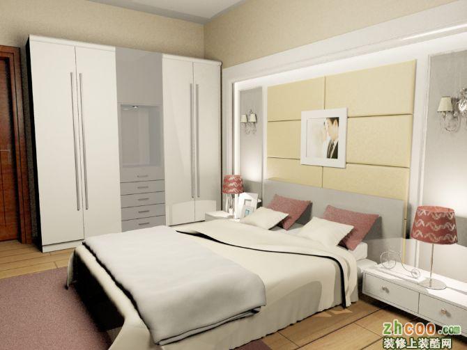 卧室床面背景墙,衣柜制作