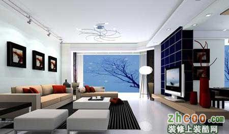 简约电视背景墙打造经典客厅