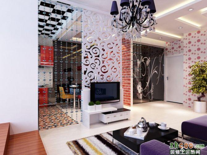 【武汉实创装饰】5.3万80后时尚青年两居室,现代风格的气息