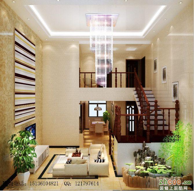 业之峰装饰打造开平小区复式楼现代风格装修案例【客厅】-开平小区