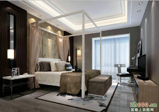 业之峰装饰打造开平小区复式楼现代风格装修案例【卧室】-开平小区