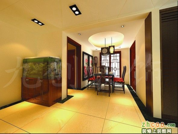 【万象新天】127平中式风格家居装修效果图欣赏