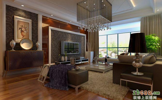 武汉实创装饰时尚前卫 加州香山美树简欧风格三居室