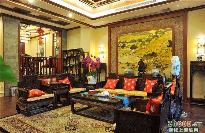 客厅 品界国际装饰—重庆茶园别墅钻石岛—中国古典中式元素案例