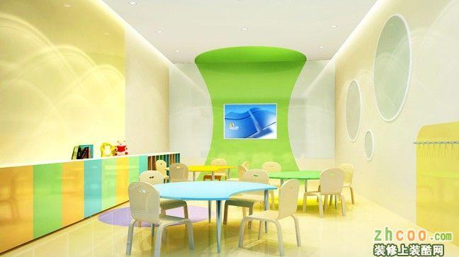 迈格森少儿英语培训室内装修设计 欧式风格 学校