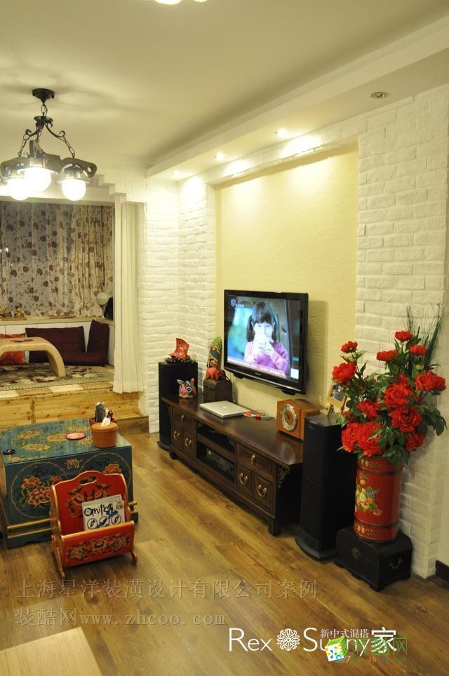 大氣64平二室一廳榻榻米飄窗新中式
