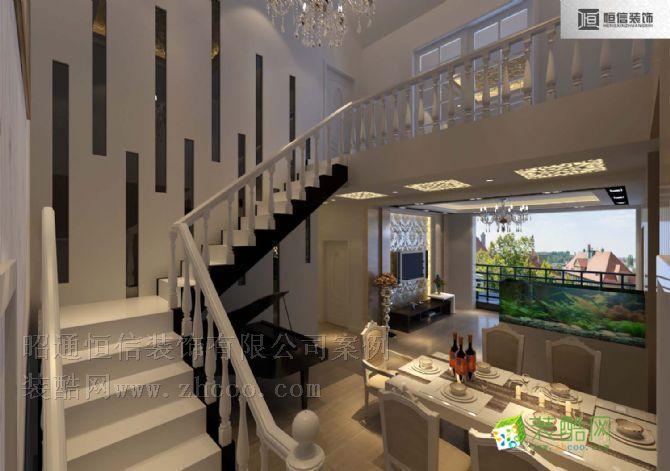 餐馆楼梯设计效果图