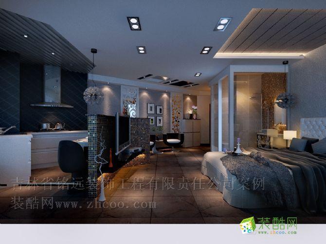 盛世城54㎡一室一厅一卫小户型装修设计