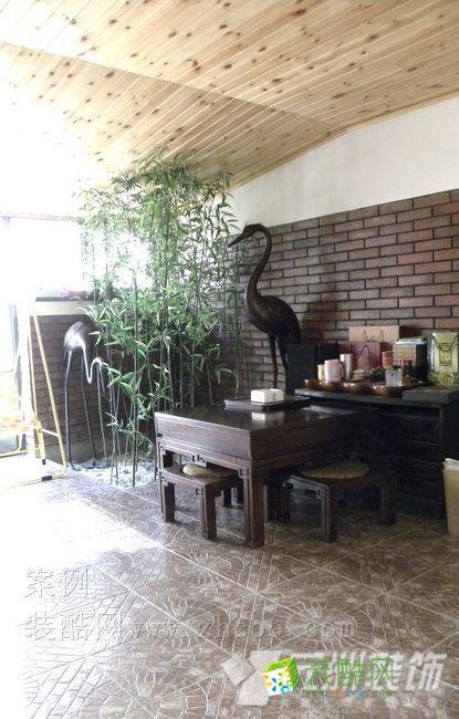 石家庄上山间别墅中式装修 中式风格 别墅花园