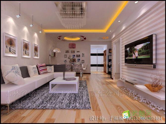 保利 百合香湾 90平米设计方案,时尚现代风格