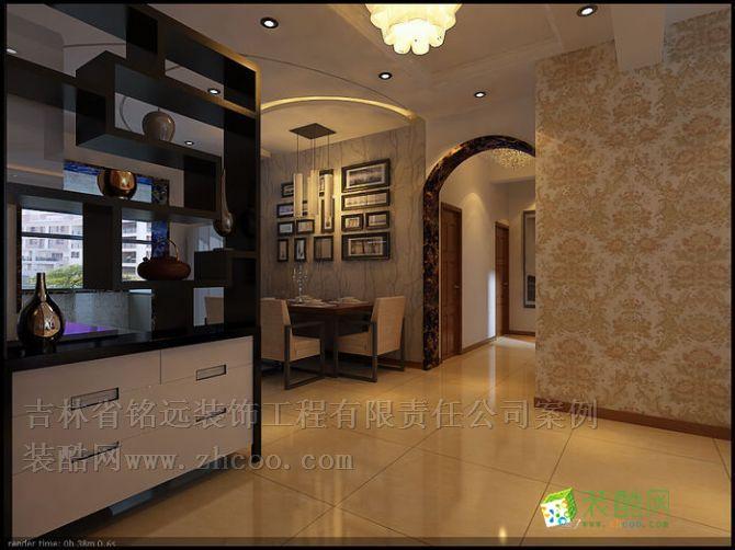 >> 长春明珠140平简欧风格整体装修设计方案