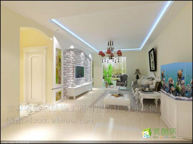 >> 新奥蓝城115平米三室两厅简欧风格装修设计方案