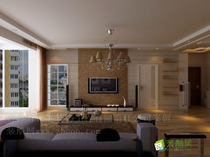 >> 華瀚四季花園三室兩廳錯層簡歐風格整體裝修設計方案