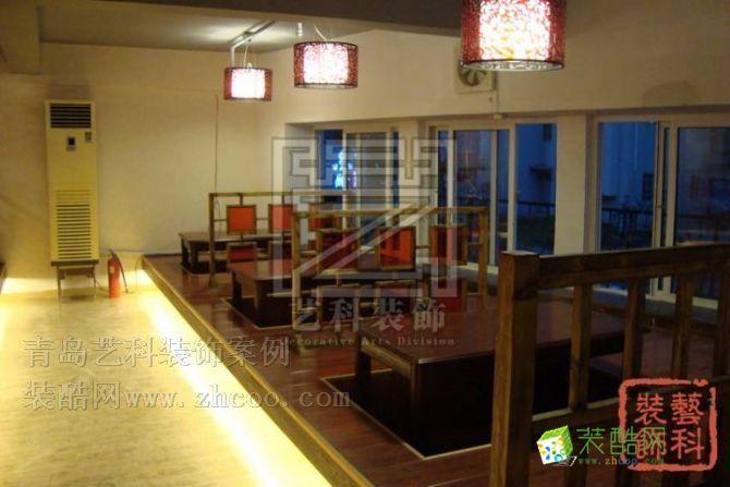 青岛饭店装修设计案例 中式风格 一室一厅一卫