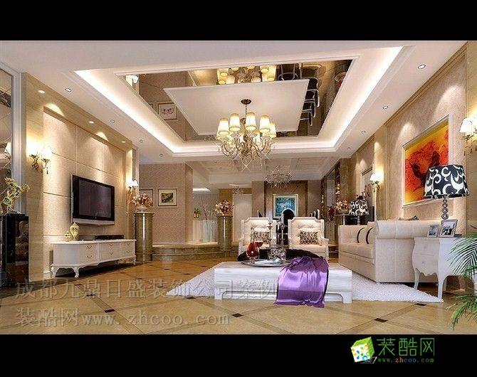 中华名园140平方现代简欧风格装修效果图欣赏
