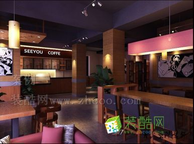 青島主題咖啡店裝修設計
