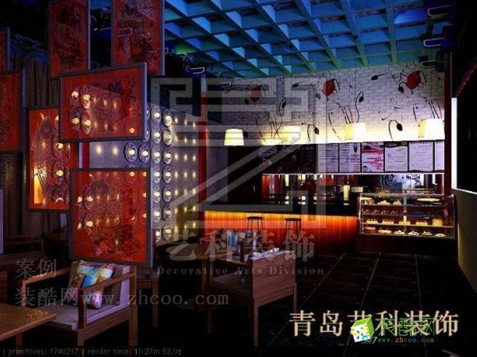 青島飯店裝修休閑餐廳的中式設計風格獨領風騷