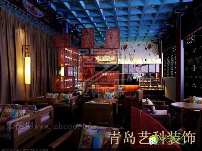 >> 青岛饭店装修休闲餐厅的中式设计风格独领风骚