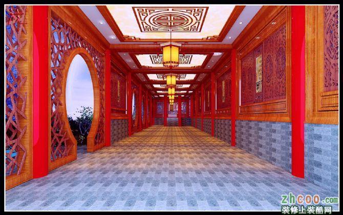 梓潼中式走廊