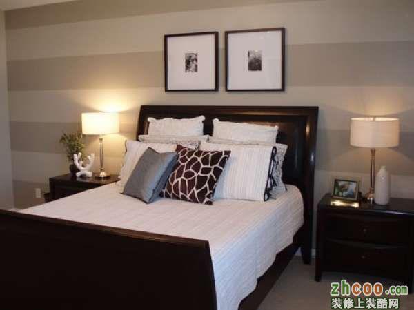 现代卧室床头墙背景设计