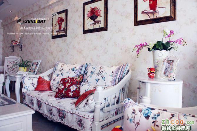 乌鲁木齐欧式风格墙纸装修效果图