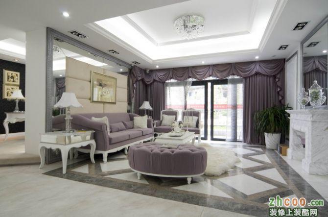 天水丽城四居室装修白欧风格实景图