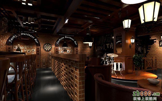 工装红酒主题酒吧 典雅风格 酒吧
