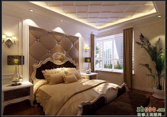 床头背景选用欧式pu线条