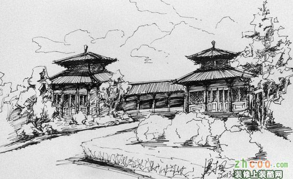 其他商丘古城风景写生图片