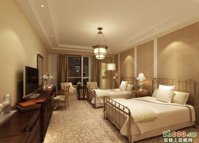 酒店客房效果图 欧式风格 酒店