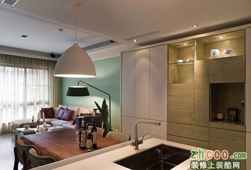 台湾式设计感打造简约三居装修图