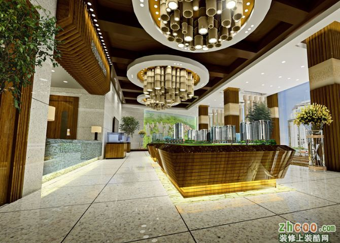 中式售楼处设计,黄山徽格装饰设计有限公司