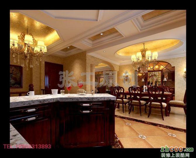 客餐厅从多方面加入了典型的欧式元素,较简洁的布局方案让客餐厅更现