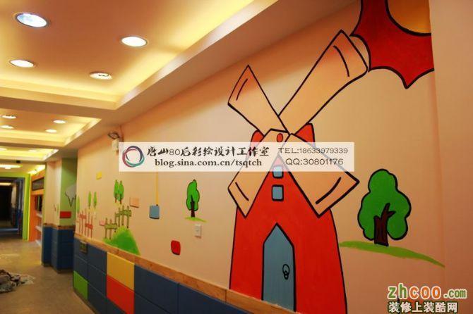 大拇指soho阳光园走廊彩绘