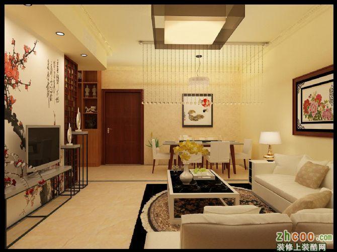 德林华府小户型3.5万精装修 中式风格 两室两厅一卫