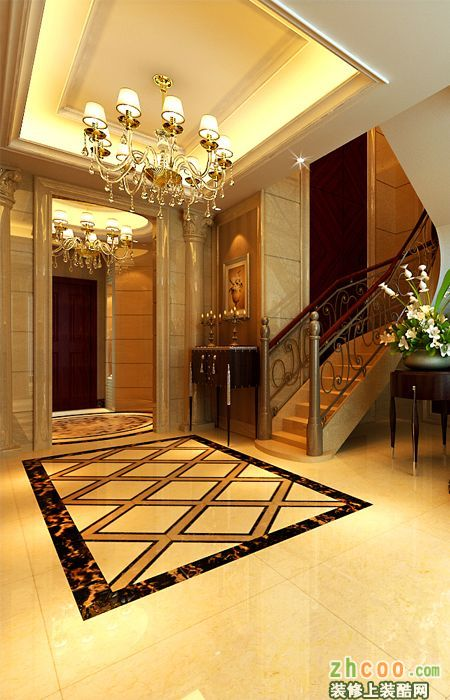 别墅户型欧式新古典设计 古典风格 别墅花园