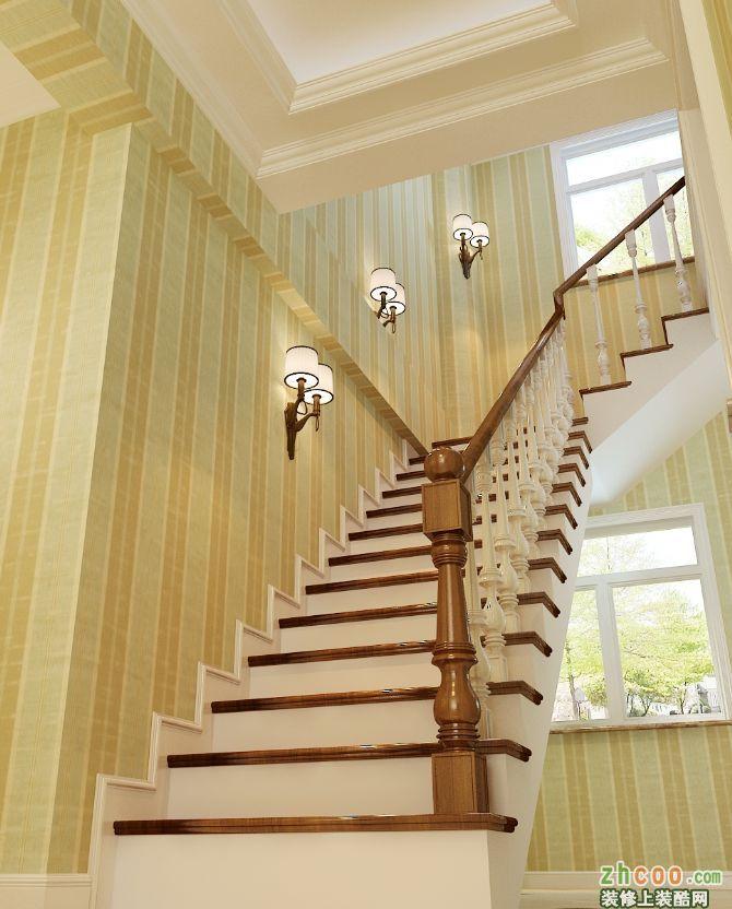 楼梯扶手是实木的