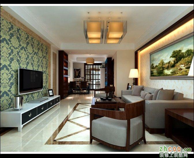 濟南泉景天沅140平戶型新中式風格設計