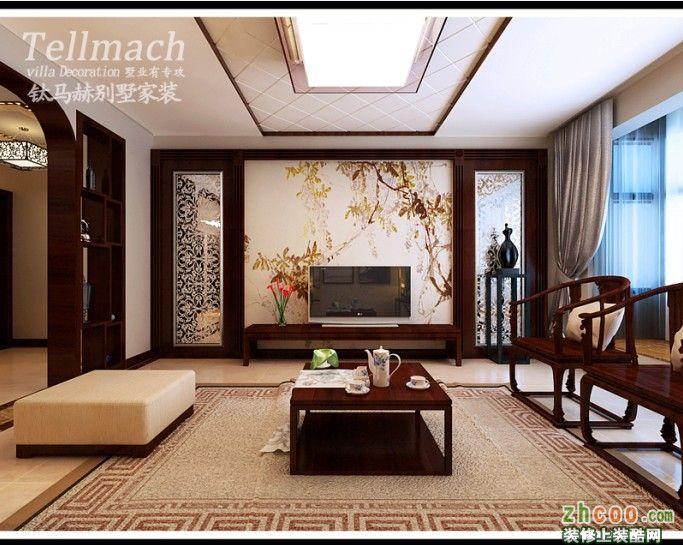 濟南偉東新都三居室戶型新中式設計