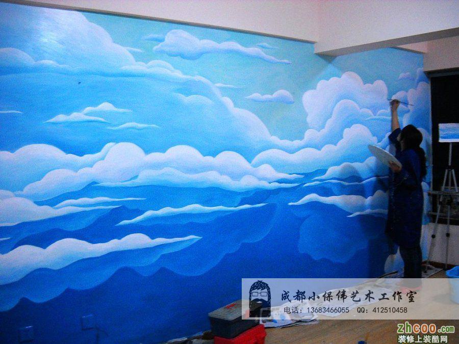 海洋可爱手绘墙画