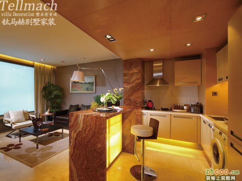 开放式厨房三居室装修实景拍摄!