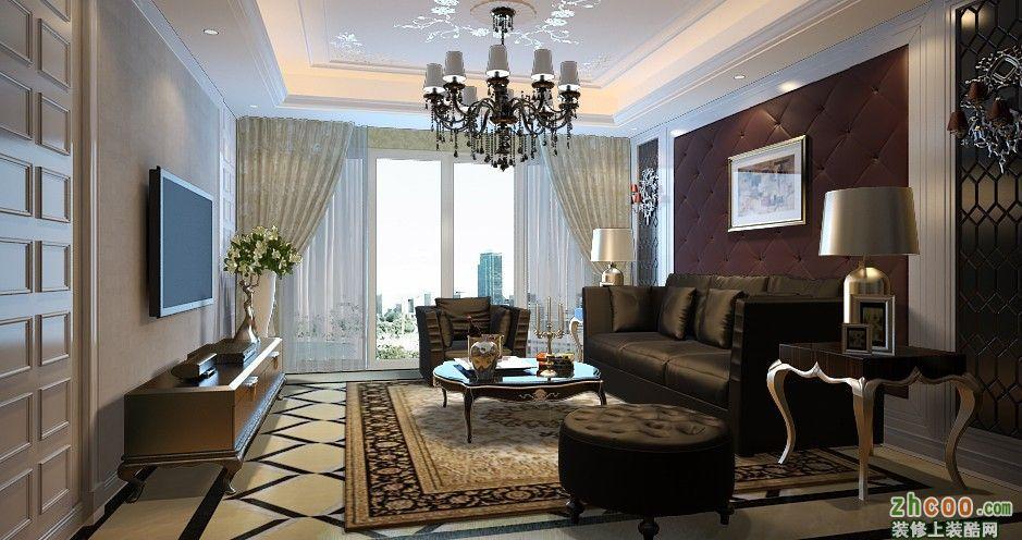 济南四建美林苑四居室户型新欧式设计