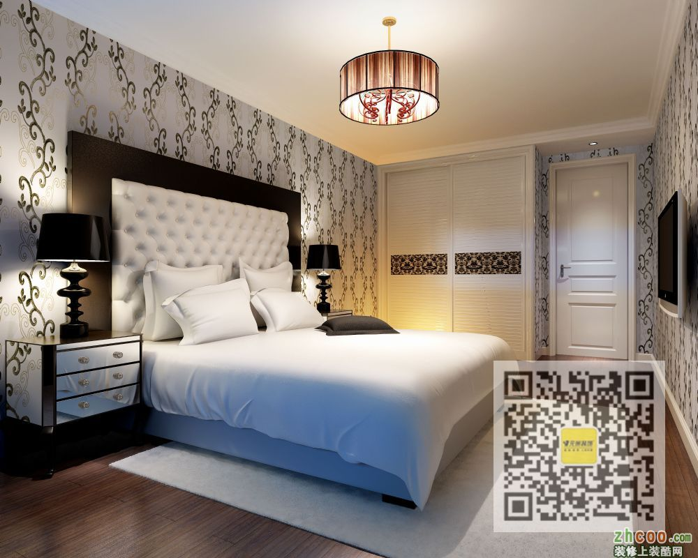 英特公寓三居室欧式风格效果图_装酷网装修案例