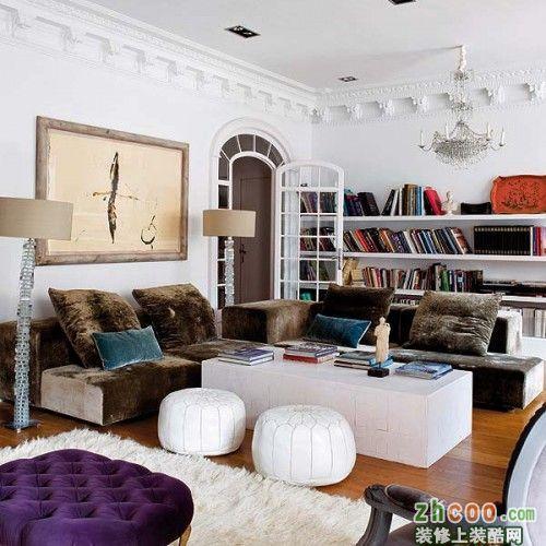 汀凡装饰 小户型客厅书房