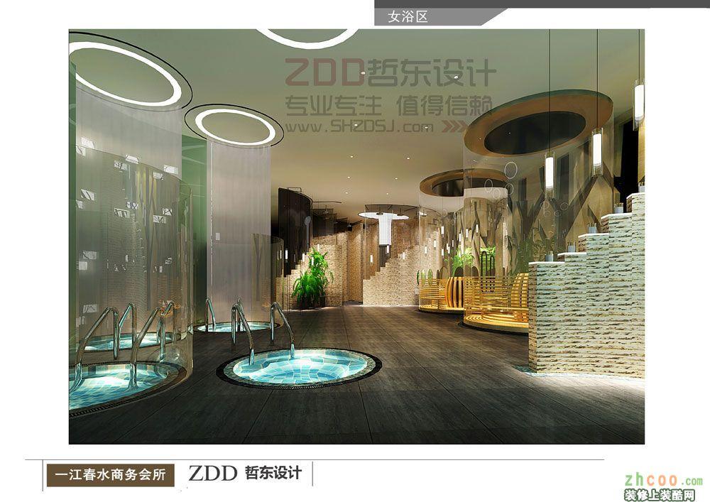 鄭州大型高端洗浴中心設計