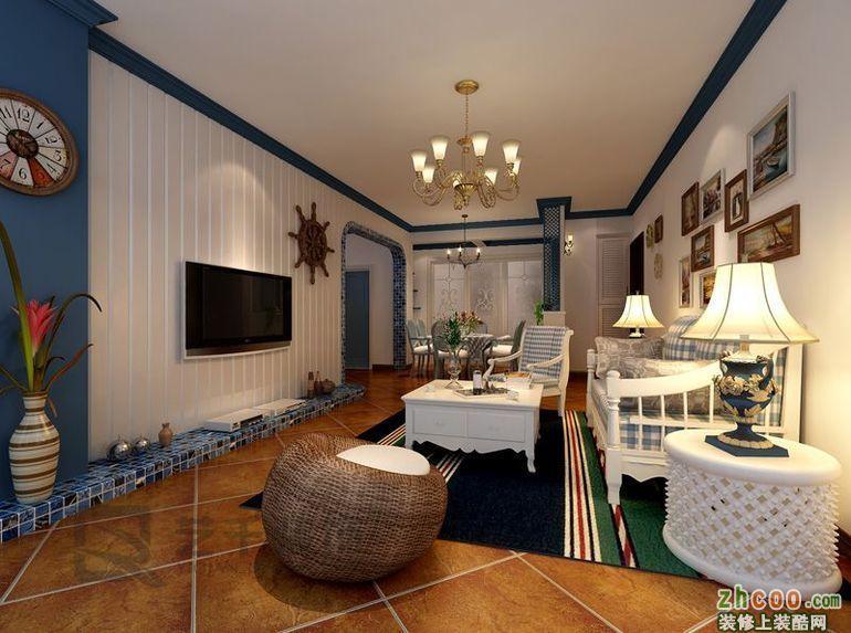 博雅湘水湾-二居室-88平米,半包6万,地中海