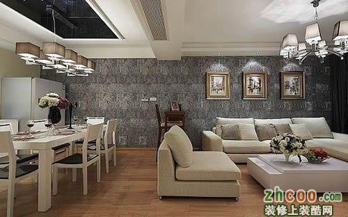 【鑫之家装饰】清爽大气简约三居 地板铺装宽敞舒适之家