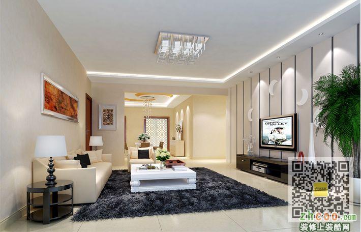 客厅 客厅:客厅简单大方 设计了局部吊顶和电视背景墙.http://blog.