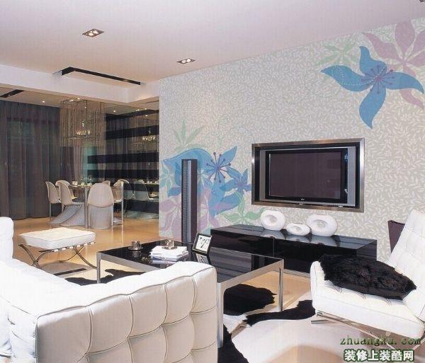 客厅液晶电视背景墙颜色搭配技巧