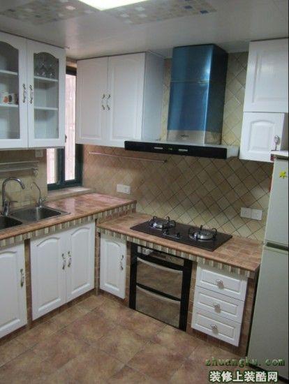 厨房水泥灶台步骤图